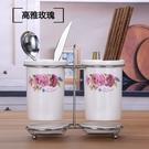 創意廚房陶瓷筷子筒瀝水筷子籠家用筷子盒防霉筷筒筷子盒筷子架