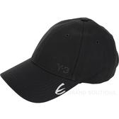 Y-3 LOGO 刺繡設計棉質黑色棒球帽 1920523-01