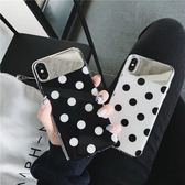 ~SZ35 ~ins 簡約波點IMD 鏡子殼iphone XS MAX 手機殼iphone XR XS 手機殼iphone 8plus 手機殼i6s plus
