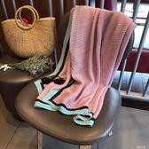 圍巾 圍巾女韓范壓褶彈力兩用防曬棉麻披肩度假旅游沙灘巾紗巾 蓓娜衣都