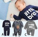 [預購] 春秋季嬰兒男女童全棉長袖寶寶服裝包屁衣 歐美童裝連身衣 (B0200)