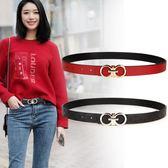 皮帶女裝飾簡約百搭休閒韓國韓版潮流時尚牛仔褲帶青年學生紅腰帶「摩登大道」