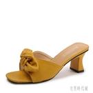 拖鞋女外穿高跟鞋女2020新款時尚百搭中跟韓版粗跟涼拖鞋女夏 LF3839【宅男時代城】