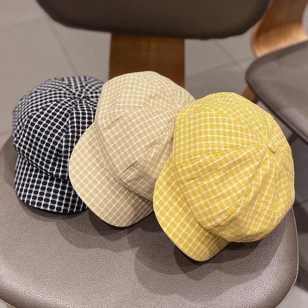 貝雷帽 帽子女韓版潮休閑透氣八角帽日系英倫鴨舌帽春夏天薄款貝雷帽春季