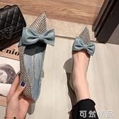 尖头单鞋女秋季新款ins韩版蝴蝶结百搭网红浅口细跟高跟鞋女 可然精品