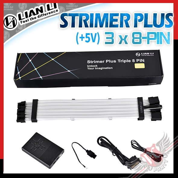 [ PCPARTY] 聯力 Lian Li STRIMER PLUS Triple 8-Pin RGB 燈光排線(3X8-PIN)