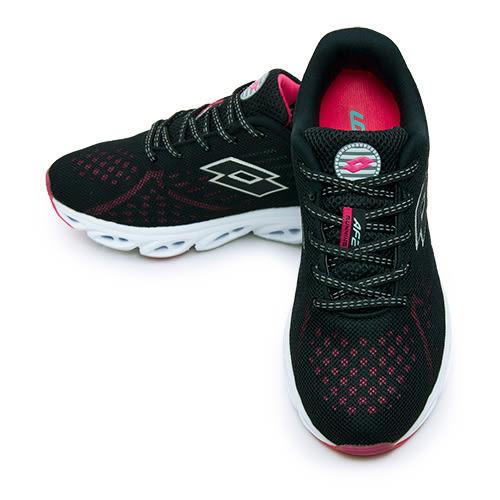 LIKA夢 LOTTO 專業氣動慢跑鞋 AIR FLOW 2 系列 黑莓紅 3711 女