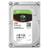 【綠蔭-免運】Seagate火梭魚FireCuda 1TB+8G SSD 3.5吋固態混合硬碟(ST1000DX002)