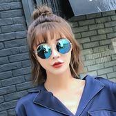 墨鏡女潮款眼鏡2018新款圓形個性太陽鏡