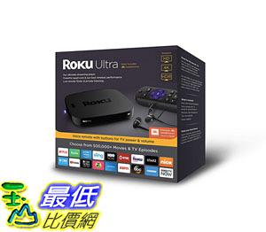 播放器 Roku Ultra HD/4K/HDR Streaming Media Player Voice Remote Remote Finder USB B07HDHXZH4