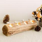 燭台   樂荷公園 創意北歐原木蠟燭燭台 浪漫復古餐桌燭光晚餐裝飾品擺件 igo