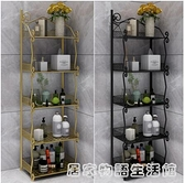 輕奢北歐浴室衛生間浴室置物架落地式馬桶架子轉角夾縫陽台收納櫃 居家物語