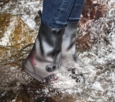 透明雨天鞋套男女防水雪地靴加厚耐磨硅膠成人高筒戶外便攜式雨靴 米蘭潮鞋館