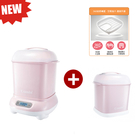 康貝 Combi Pro 360高效消毒烘乾鍋(優雅粉)+ Pro 360奶瓶保管箱