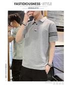 (快出)POLO衫男士短袖t恤翻領夏季新款韓版潮流潮牌體恤打底衫衣服C