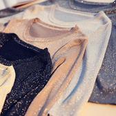 簡約七分袖T恤圓領套頭亮絲打底衫女薄款
