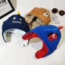兒童毛絨帽子立體卡通恐龍小熊刺繡寶寶護耳帽子冬雙層 『洛小仙女鞋』