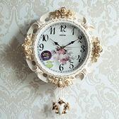 歐式鐘錶 掛鐘 客廳電子家用時鐘靜音時尚掛錶大氣個性創意石英鐘