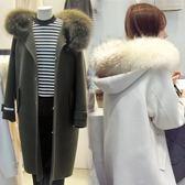 毛領毛呢外套女中長款學生2018秋冬新款韓版小個子呢子加厚呢大衣 挪威森林