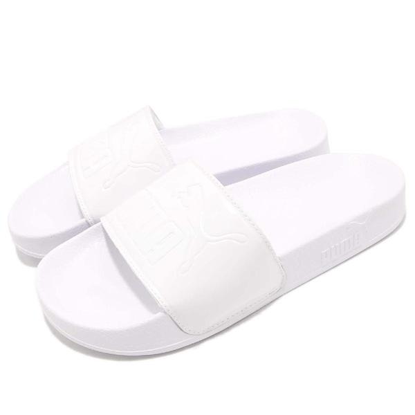 Puma 拖鞋 Leadcat Patent Wns 白 全白 一片拖 運動拖鞋 女鞋 夏日必備 涼拖鞋【PUMP306】 36728202