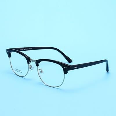 鏡框(半框)-新款時尚舒適輕巧男女平光眼鏡9色73oe38【巴黎精品】
