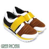 (棕色35) 女款義大利牛皮厚底休閒鞋【GREEN PHOENIX】BIS-VITAL  U28-25032