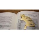 【收藏天地】創意小物*鋁合金質感書籤-美國短毛貓 (金黃) / 藏書夾 生活文具 禮品 文青