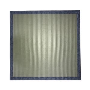 日式仿榻榻米藍邊加厚地墊90x90x2cm