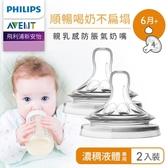 Philips AVENT飛利浦新安怡 親乳感防脹氣奶嘴雙入裝-濃稠液體專用