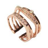 日韓潮人指環百搭歐美韓版女戒韓國時尚夸張女士戒指食指配飾 亞斯藍