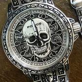 【萬年鐘錶】POLICE  骷髏圖騰 特殊風格 防水 古銀 男錶 + 手環套組  大錶徑 46mm 15530SKS-SET1
