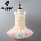 tutu裙女童蓬蓬裙兒童洋裝春洋氣小童公主裙寶寶女孩子秋天衣服