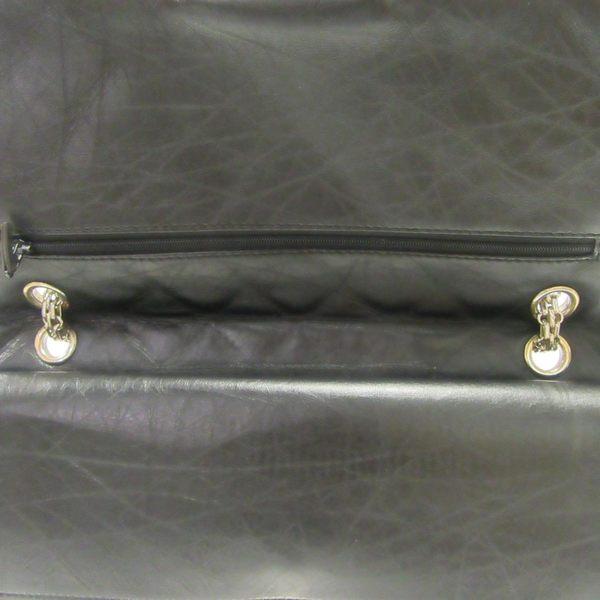 CHANEL 香奈兒 黑色菱格紋羊皮2.55方釦銀鍊雙蓋肩背包【二手名牌 BRAND OFF】