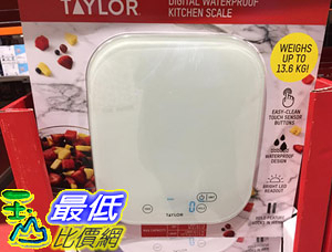 [COSCO代購] C1075112 TAYLOR KITCHEN SCALE 廚房用電子磅秤 (適用AAA電池三入)
