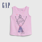 Gap 女幼童 棉質舒適印花無袖上衣 539792-童趣多彩