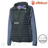 荒野WILDLAND 女款彈性針織拼接羽絨外套 0A62991 深灰色 羽絨衣 羽絨外套 保暖外套 OUTDOOR NICE