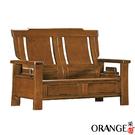 【采桔家居】寶格麗 典雅風實木抽屜二人座沙發椅(二抽屜設置)