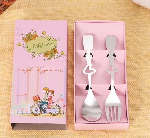 腳踏車之戀湯叉餐具組 送客禮 婚禮小物【皇家結婚用品】