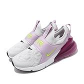 Nike 休閒鞋 Air Max 270 Extreme GS 灰 紫 女鞋 童鞋 大童鞋 運動鞋 【ACS】 CI1108-003