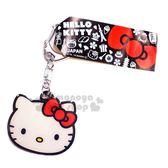 〔小禮堂〕Hello Kitty 日製大臉造型和風鐵片吊飾《紅白.物品》掛飾.鎖圈.鑰匙圈 4991567-26455