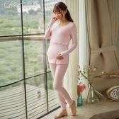 孕婦裝 月子服產後孕婦睡衣產婦哺乳衣外出喂奶哺乳期孕婦家居服「Chic七色堇」