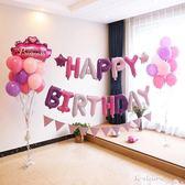 生日派對裝飾布置鋁膜氣球套餐寶寶兒童周歲佈置背景牆快樂汽球  伊衫風尚