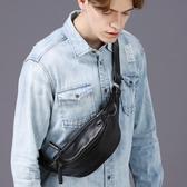潮流男胸包韓版斜背包迷你小背包戶外多功能手機包單肩包休閒腰包  卡布奇諾