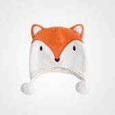 pureborn 狐貍造型帽子兔男女寶寶防風帽嬰兒秋冬帽保暖可愛胎帽