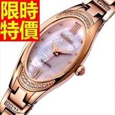 鑽錶-浪漫經典甜美鑲鑽女手錶4色62g7【時尚巴黎】
