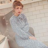MUMU【O29452】甜美碎花荷葉袖百褶下擺洋裝。兩色