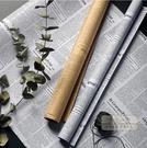 包裝紙 英文報紙禮物禮品包裝紙復古做舊牛皮紙背景紙墻紙包書皮紙-三山一舍