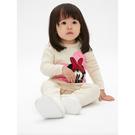 Gap女嬰棉質舒適長袖針織連體衣525892-米白色