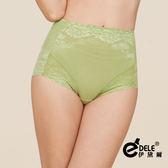 高腰280丹曲線緹花蕾絲修飾蠶絲塑身褲 M-XXL(蘋果綠)-伊黛爾
