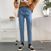 九分褲顯瘦牛仔褲長褲學生小腳褲潮